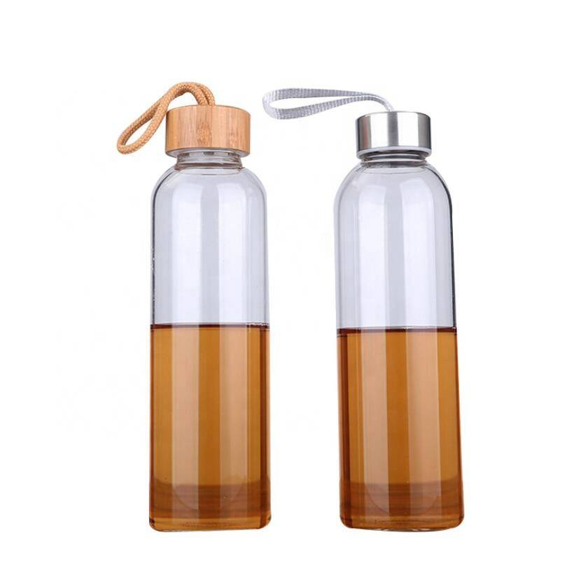 2019 New Custom BPA Free Borosilicate Glass Water Bottle