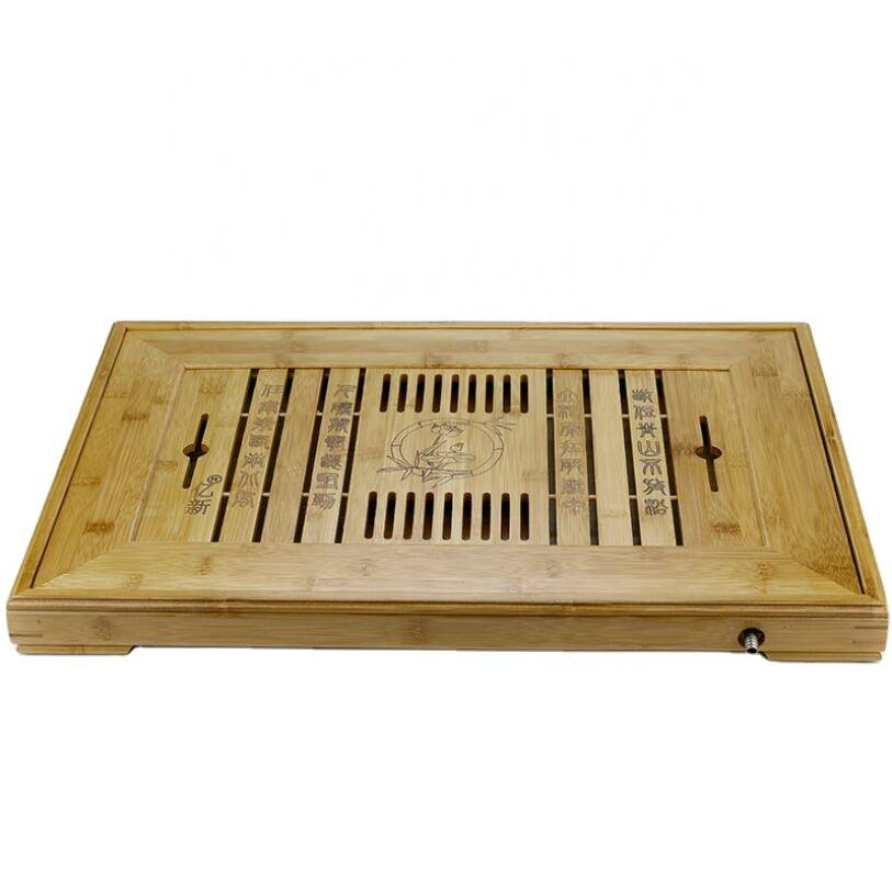 Hot sale high quality cgeapbamboo tea serving tray