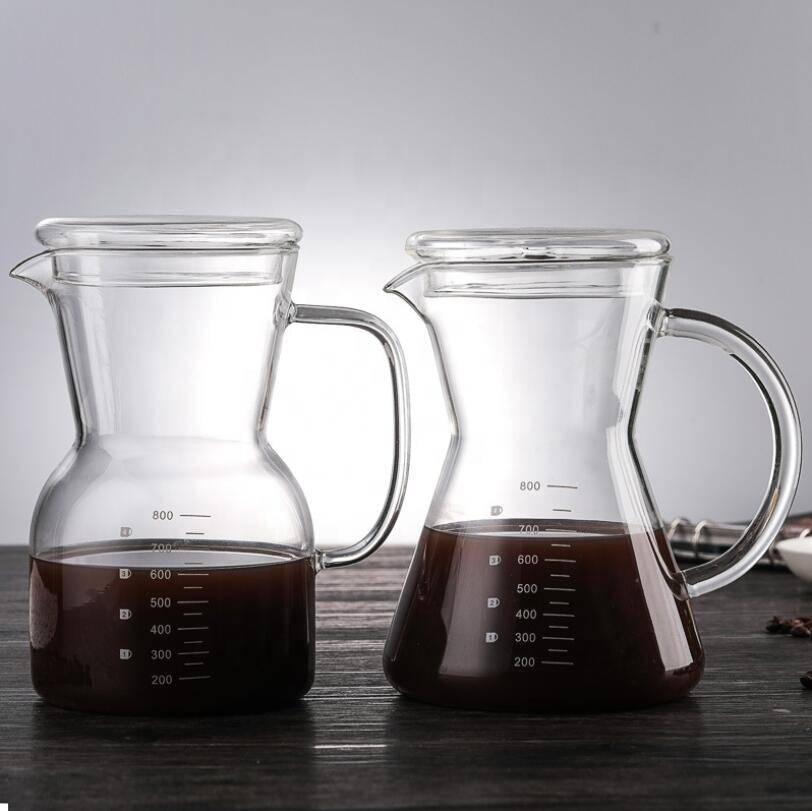 high borosilicate heat resiseant coffee maker  glass coffee pot with filter