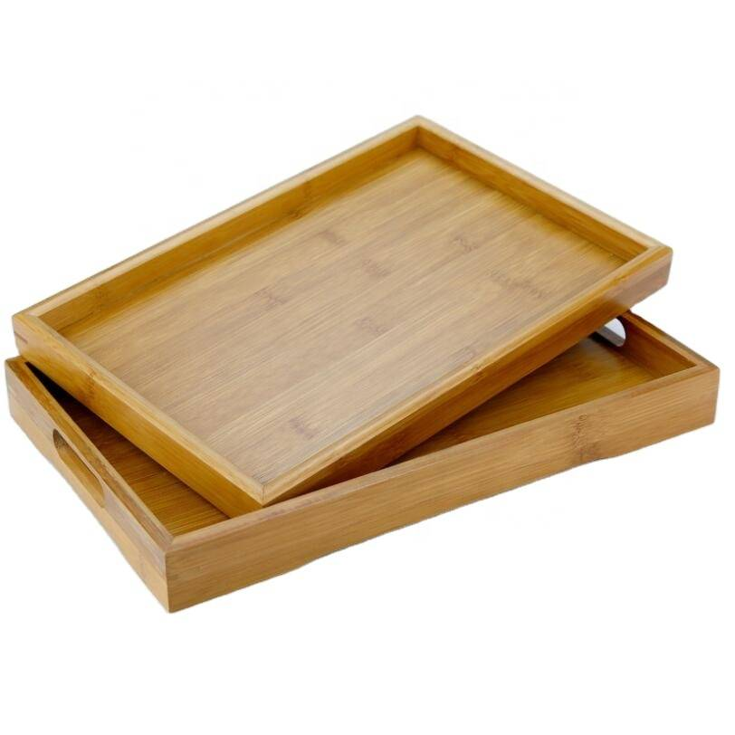 High quality glass tea cup and pot  Serving Tray Home Bamboo