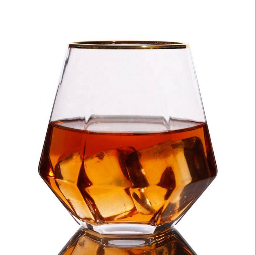 Beautiful Design Colored Whiskey Glass Lead Free Hot Drink Cup Glass
