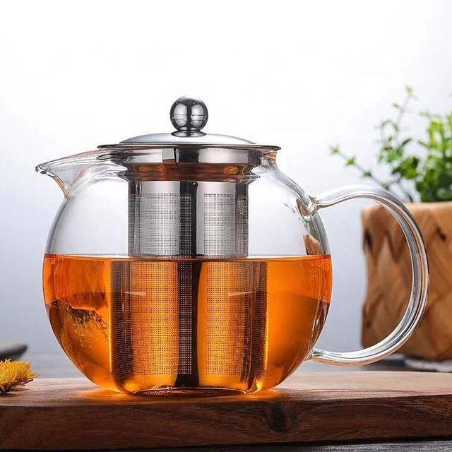 Wholesale Heat Resistant Borosilicate Glass Tea Pot With Infuser