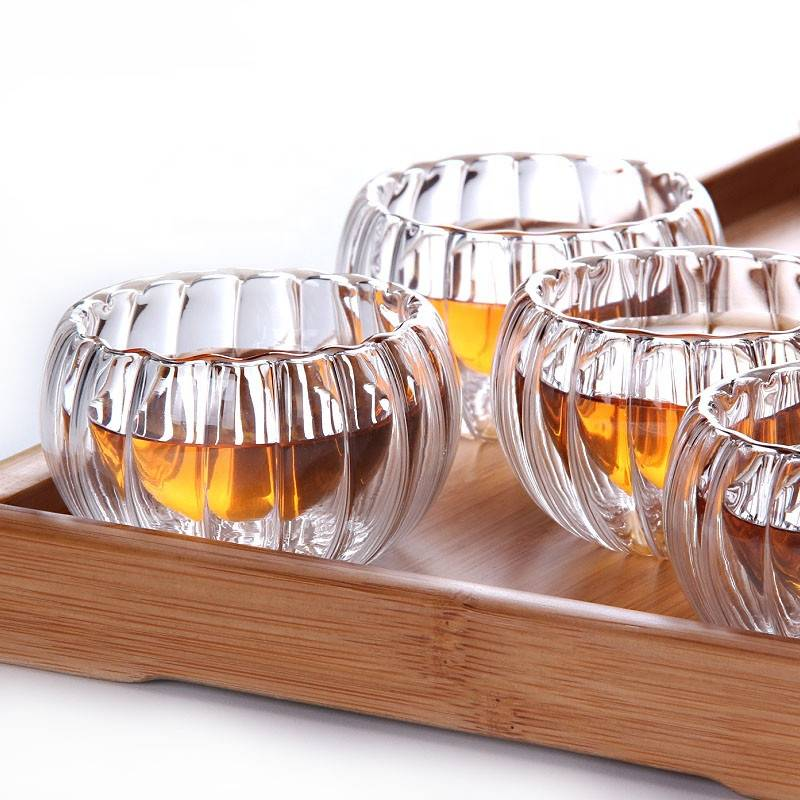 wholesale high borosilicate glass Heat resistant  tea cup