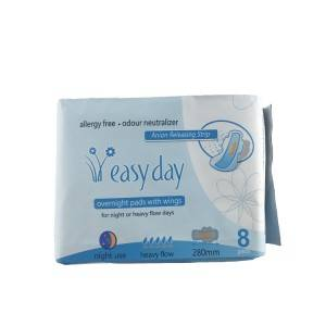 100 Organic Cotton Menstrual Feminine Hygiene Period Lady Napkin Sanitary Pad for Women