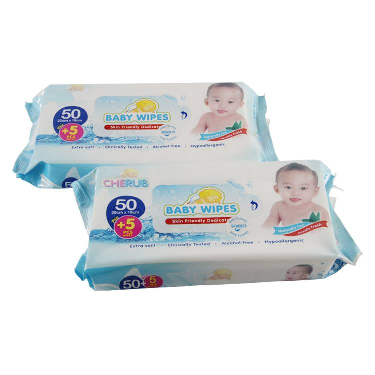 High quality light multi-purpose individual pack baby care custom wet wipes Featured Image