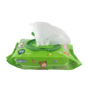Wholesale OEM Soft Organic Spunlace Baby Wet Wipes