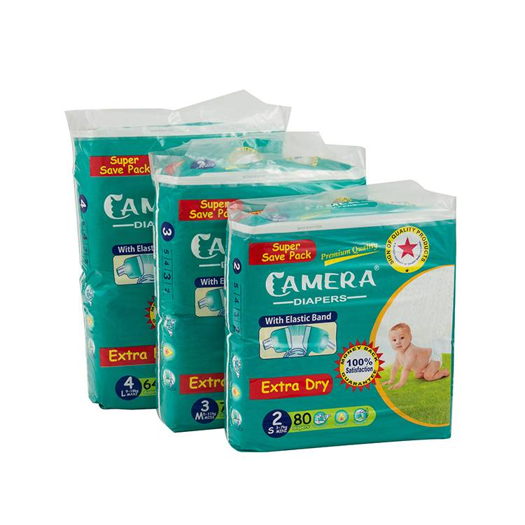 brand of OEM&ODM breathable magic cotton cheap b grade baby diapers in bales Featured Image