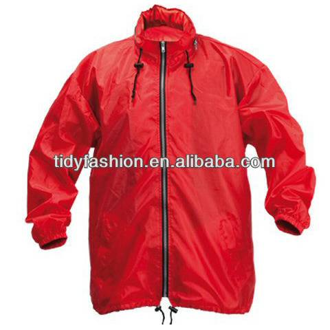 100% polyester lightweight windbreaker jackets