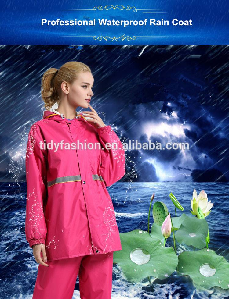 Trendy Windbreaker Hooded Nylon or Polyester Waterproof Rainsuit