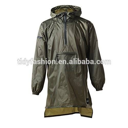 Waterproof men breathable pu raincoat