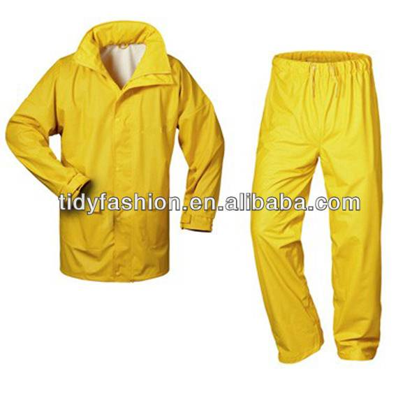 Waterproof Jacket Work Trousers PU Raincoat Suit