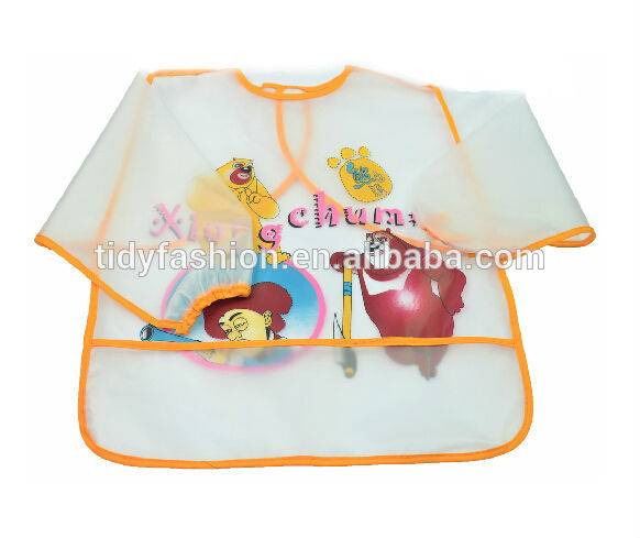 Custom Design Long Sleeve PVC Children Plastic Apron