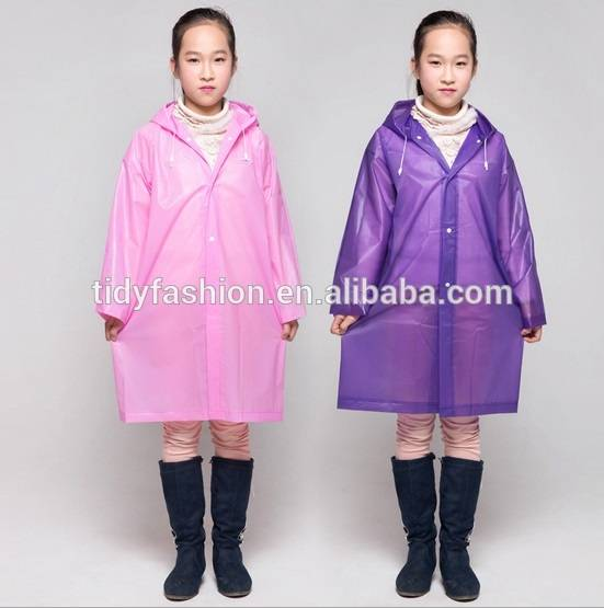 Clear Plastic Transparent Enviroment Children Raincoat
