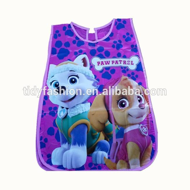 Cheap Cute PVC Plastic Kids PVC Art Apron