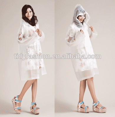 Thick PEVA Raincoat One Time Use Raincoat