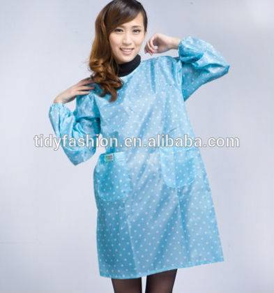 Plastic Kitchen Custom Apron For Women With Sleeves
