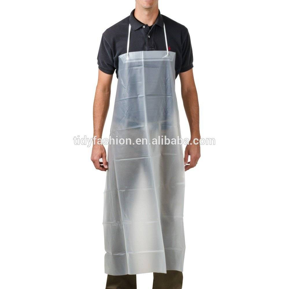 Printing Waterproof Kitchen Long Clear Plastic Apron