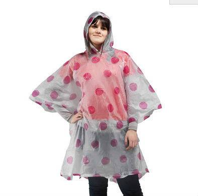 Emergency Fashion Printed Plastic Rain Poncho