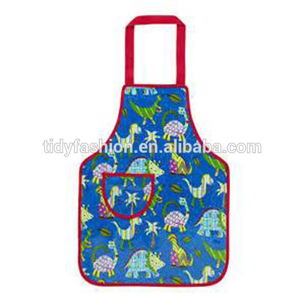 Promotional Waterproof Cheap Kitchen Kids Waist Apron With One Pocket