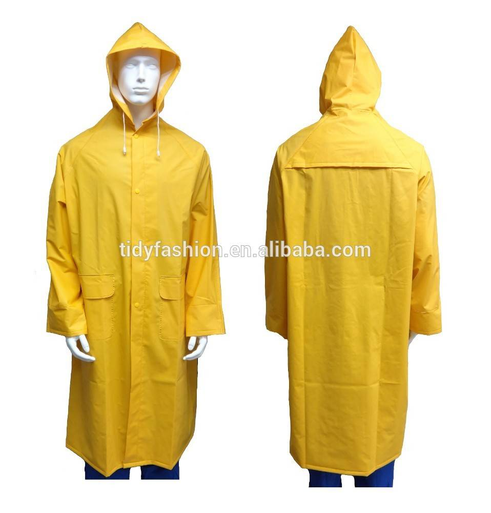 Long Yellow Nylon High Quality Raincoat