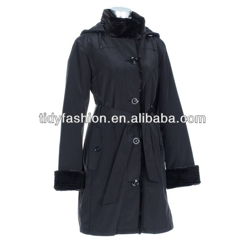 Women Waterproof Fashion PU Raincoat