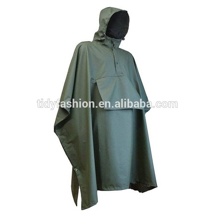 Waterproof Clothing Women Classic Yellow PU Raincoat