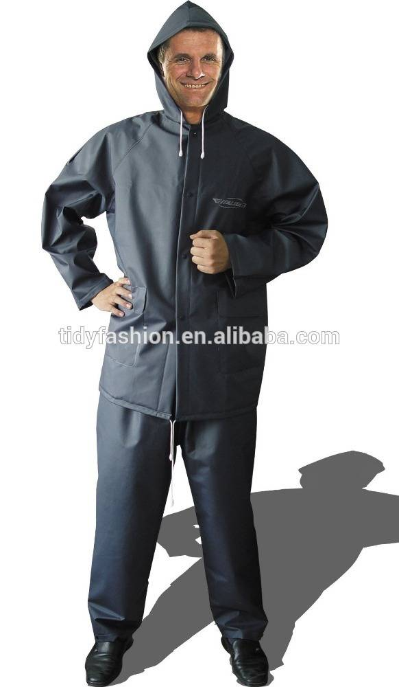 Durable Plastic Men Motorcycle Rubber Rain Coat