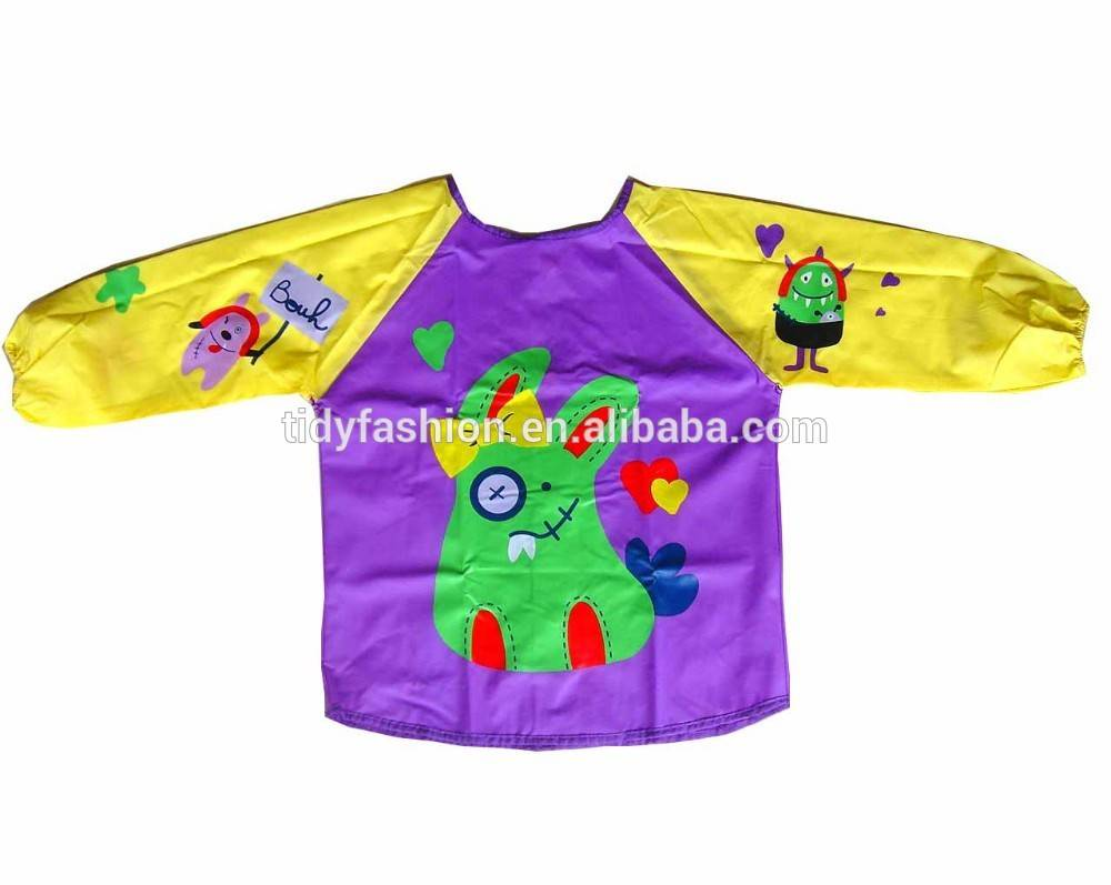 Waterproof Child Reusable Painting PVC Plastic Apron