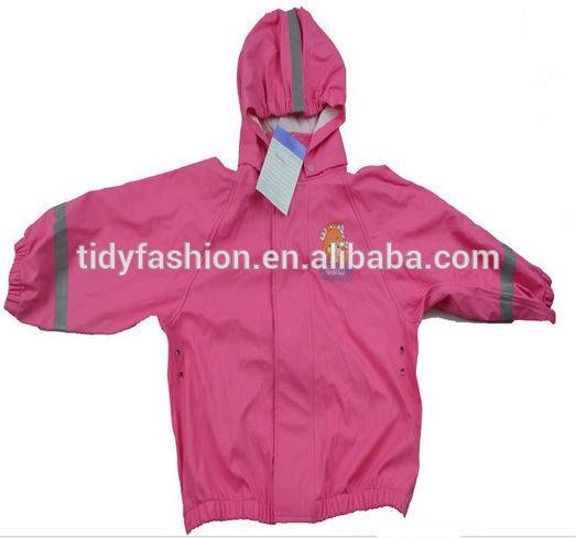 Children Pink Reflective Rainwear High Quality Raincoat