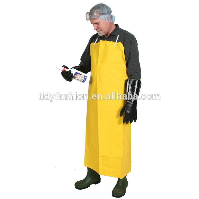 Logo Available Durable Mens PVC Industrial Waterproof Apron