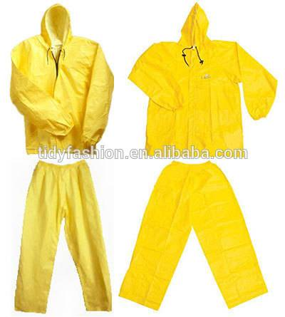 Yellow Chemical Plastic PVC Rain Suit