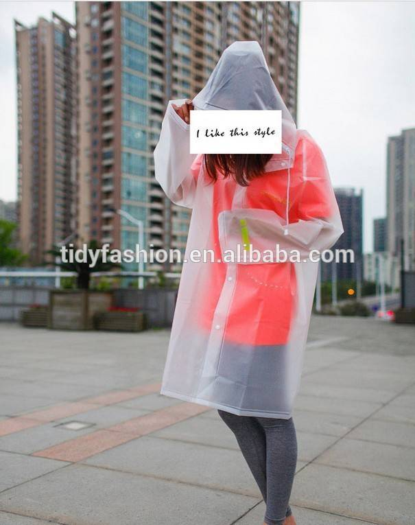 Wholesale Plastic PVC Raincoat Clear Raincoat