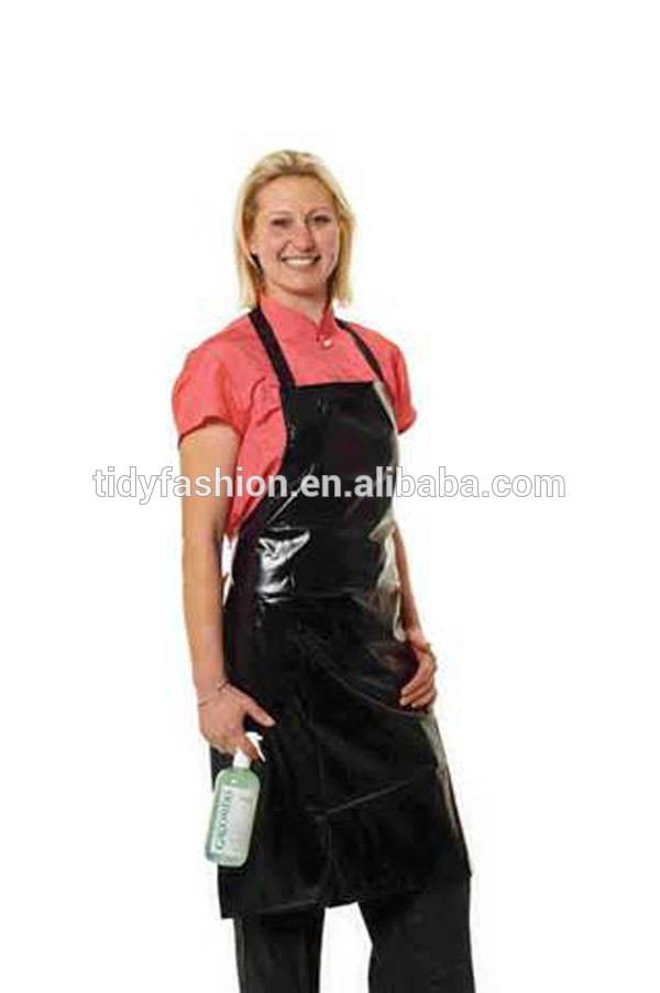 Discountable price Mens Cooking Aprons - Women Men Wholesale Waterproof Plastic PVC Long Black Aprons – Tidy
