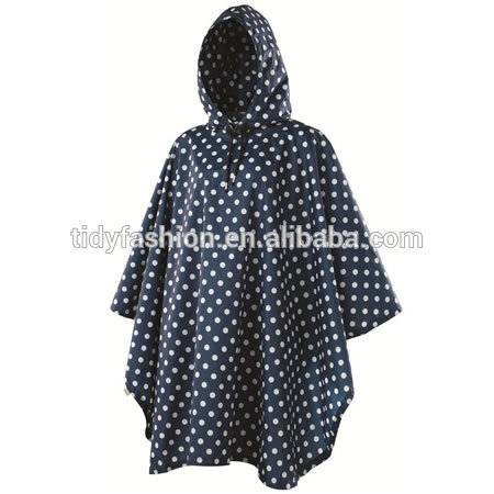 Reusable Women Fashion Printed Poncho Rain