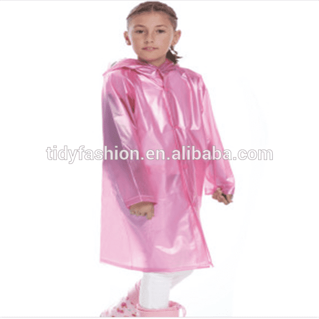 Plastic Schoolbag Rain Coat For Kids