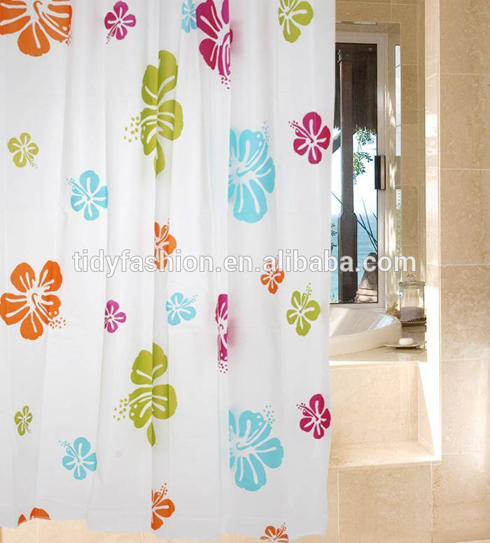 Custom Printed PVC Shower Curtain Liner