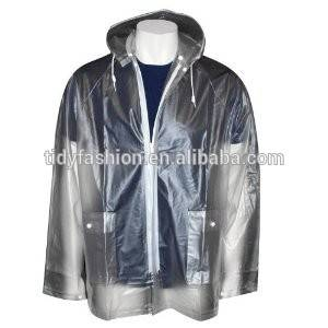 Wholesale Plastic Clear Cycling Rain Jacket