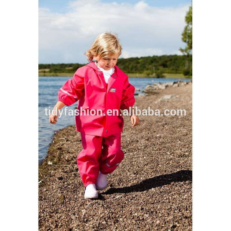 Allover Printing Fashionable Kids PU Raincoat