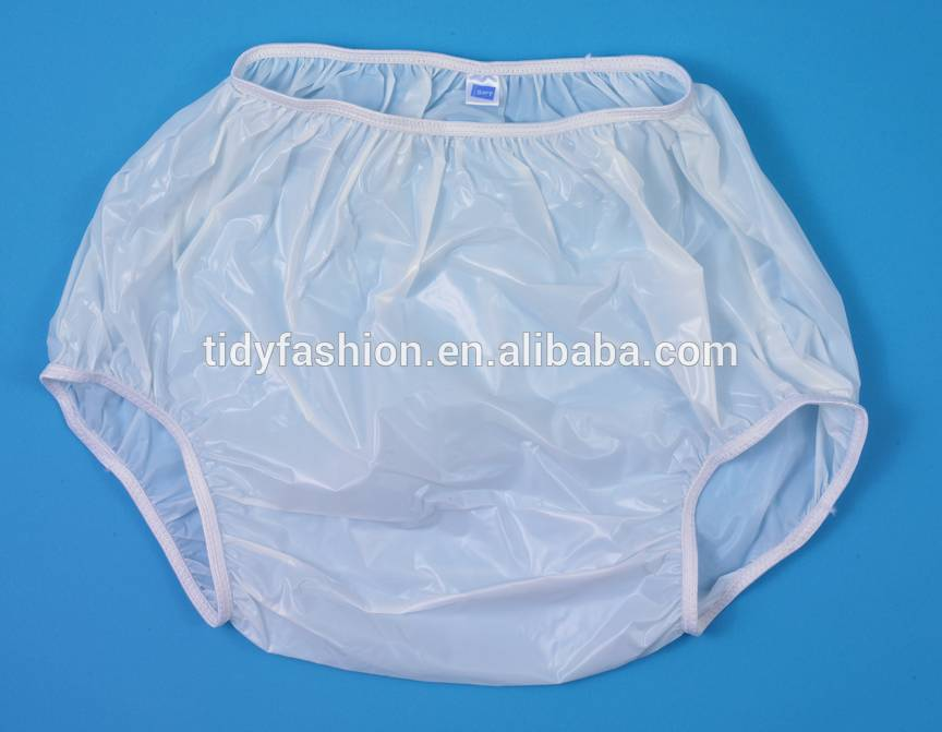 Adult Waterproof Transparent Plastic Pants