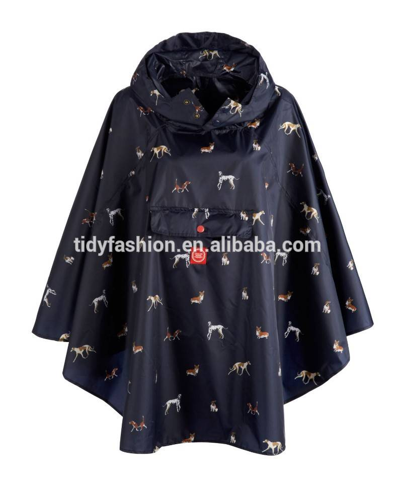 All Over Printing Handmade Ruffled Women Poncho
