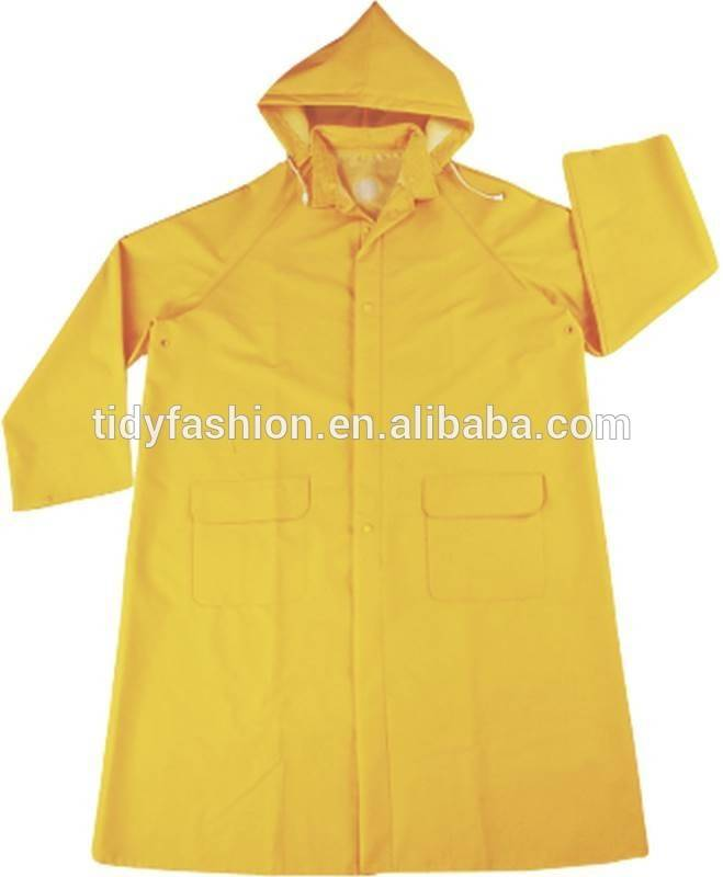 Waterproof Yellow Police Safety Raincoat