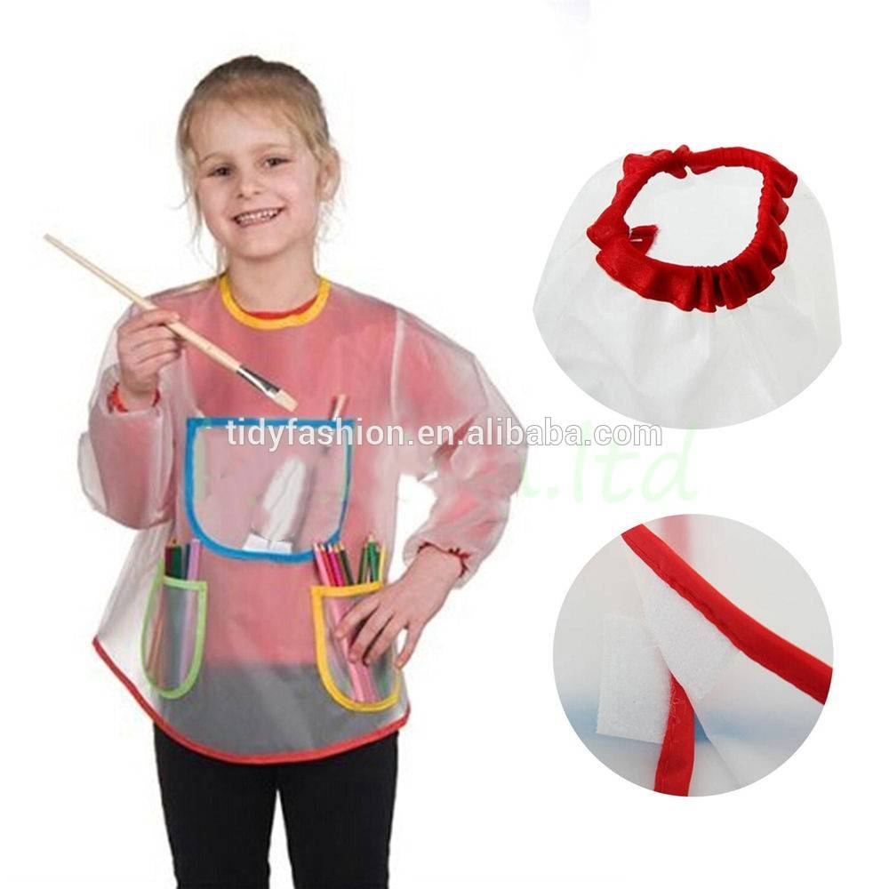 Waterproof Children Painting Cooking Plastic Vinyl Apron