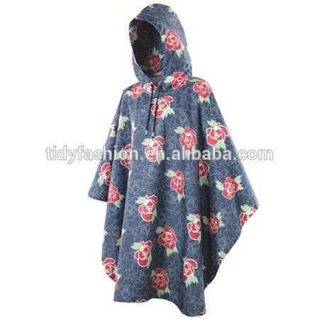 100% Ladies Nylon Waterproof Poncho