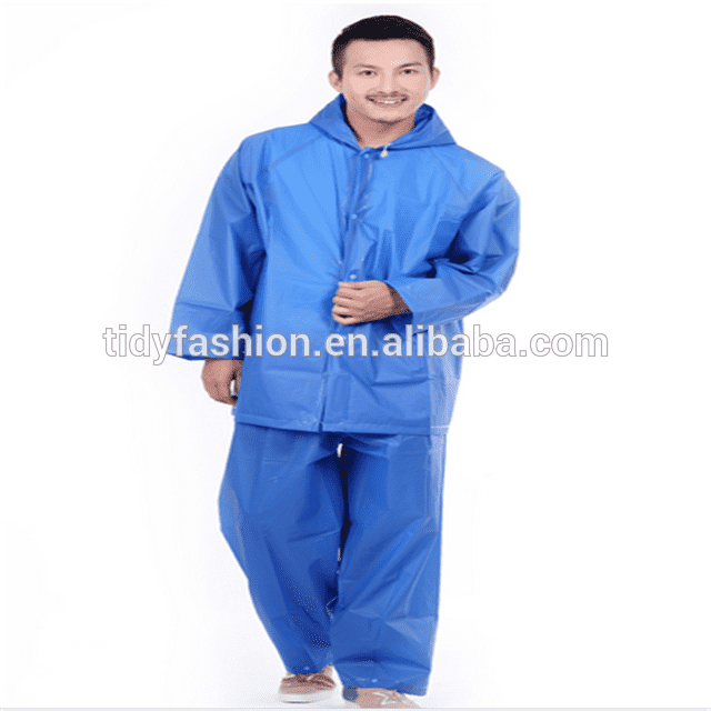 Water Proof EVA Clear Plastic Rain Suit
