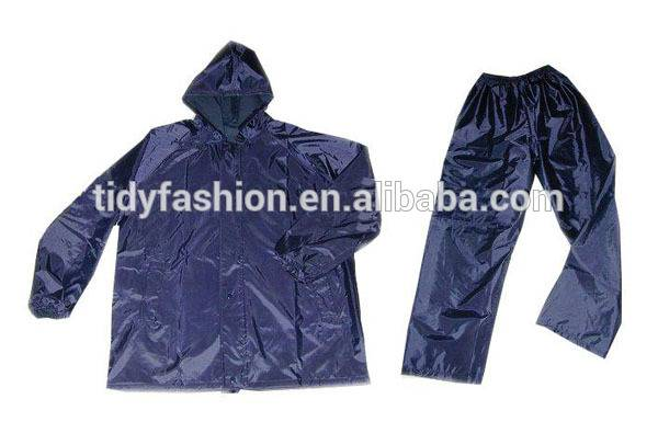 Men Hooded Comfortable Waterproof Long Nylon Raincoat