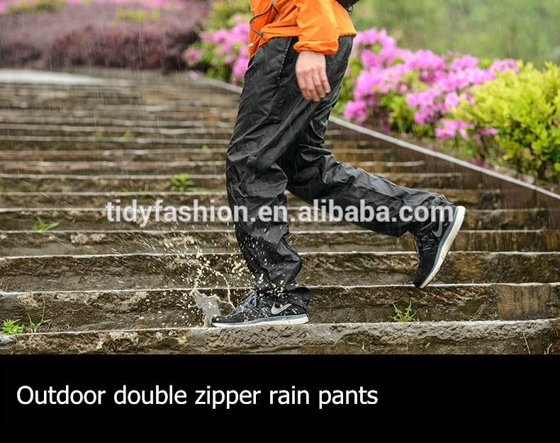 Nylon or Polyester Waterproof Breathable Rain Gear Rain Pants
