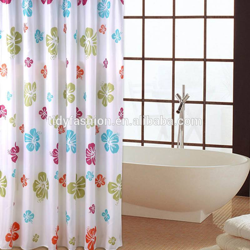 Folding Transparent PEVA Shower Curtain