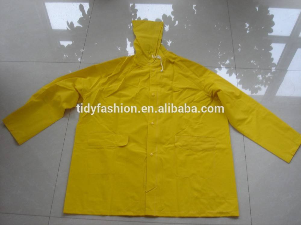 Durable Safety Yellow Foldable Motorcycle Rain Jacket