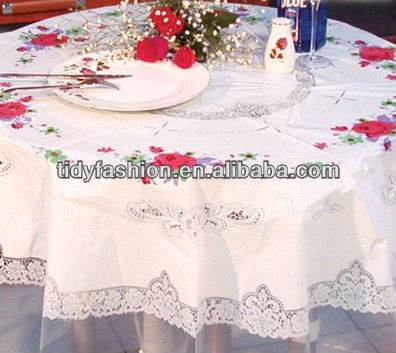 cheap PEVA transparent plastic tablecloth