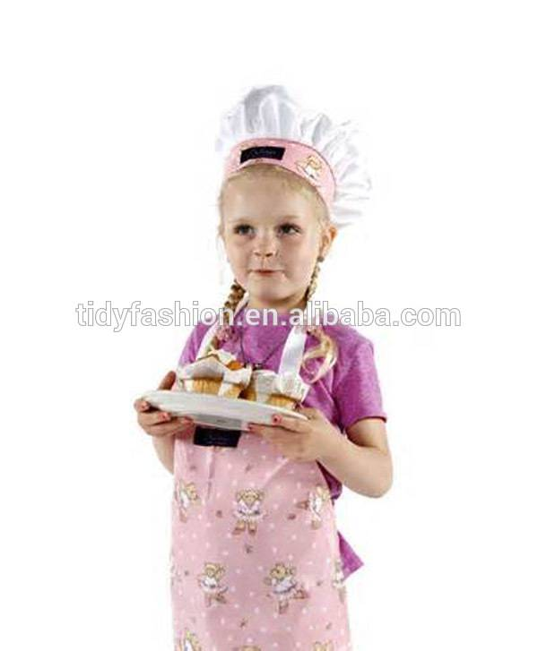Plastic Custom Printed Cheap PVC Kids Little Girls Chef Apron